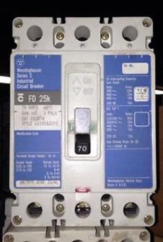 FD3070 Cutler Hammer 70 AMP, 600 VOLT, 3-POLE