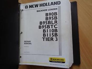New Holland B90B B95B B110B B115B Backhoe Loader Factory Repair Manual Tier 3