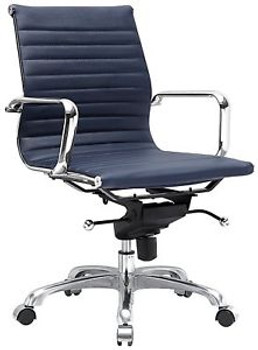 Meelano M344 Office Chair, Navy Blue