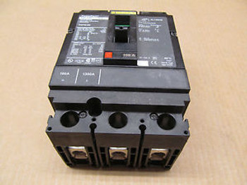 1 SQUARE D HGP HGP36100 100 AMP 3 POLE 600 VOLTS CIRCUIT BREAKER