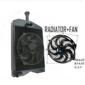 3 Core Tractor Radiato +Fan Fit Massey Ferguson 20C 230 245 Gas& Diesel 53991M91