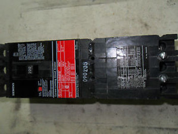 (Q2-4) 1 SIEMENS CED63B100 100AMP CIRCUIT BREAKER CURRENT LIMITING