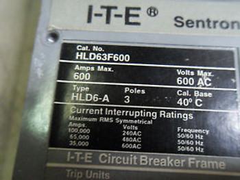(Q2-4) 1 SIEMENS HLD63F600 500AMP CIRCUIT BREAKER