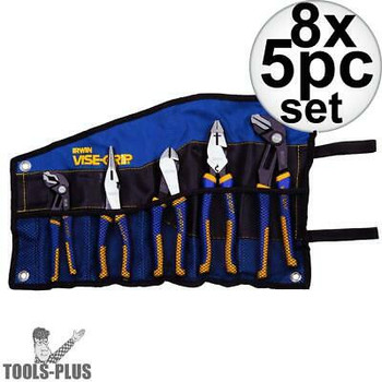 Irwin Vise Grip 1802536 Pliers Set 5-Piece Traditional And Groovelock New