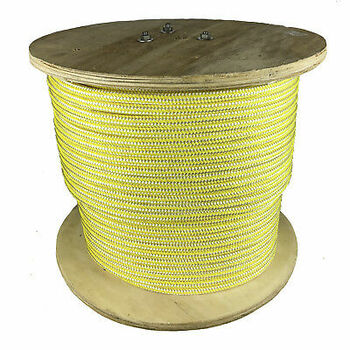 1/2 X 656' Nylon Double Braid, 7,700 Lb Bs, Boating, White/Yellow