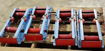 (1) Pair Of Spoolmaster Smp-Rp-6K Mechanical Cable Reel Rollers, 6 Positions