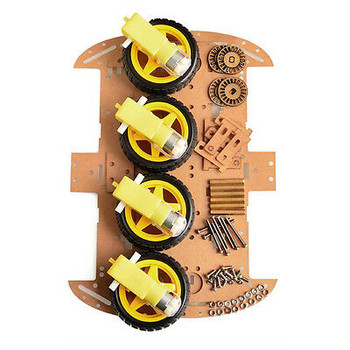 4 Wheel Robot Smart Car Chassis Kits Car Model With Speed Encoder For  Arduino