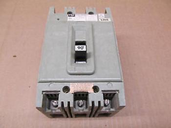 1 FPE HEF HEF631090 90 AMP 3 POLE 600 VAC CIRCUIT BREAKER
