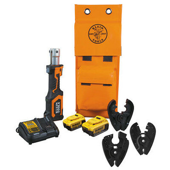 Klein Tools Bat207T4H Battery Operated Cutter And Crimper Kit