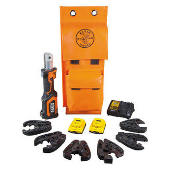 Klein Tools Bat20-7T14, Battery Operated Cable Cutter & Crimper Kit - New