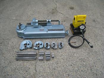 Parker Hb632 Hydraulic Tube Tubing Bender W/ 5 Dies & Enerpac Pump 632 Used