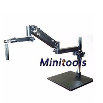 Fold the gimbal swing arm microscope flex arm big table bracket stand for industry Stereo Trinocular eyepieces microscope