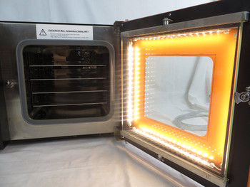 .9CF Vacuum Oven -LED Upgrade- Stainless Steel Interior - Standard 4 Wall Heating - 4 Built in Racks with 8 Rack Max Cap
