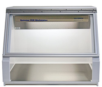 """CBS Scientific P-030-202-SS PCR Workstation, Dual UV Light, 115V, 30"""" Wide, Stainless Steel"""