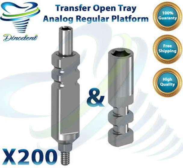 X200 Dental Transfer Impression Coping + Analog Set For Dental Implant Hex LAB