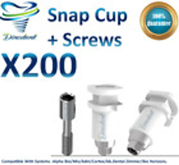 X200 Snap Cap Transfer Impression Coping Close Tray for Dental Implant Abutment