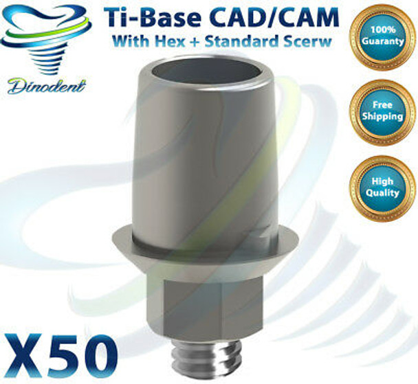 X50 Dental Implant Alphabio Mis ?« Ti-Base Cad/Cam With Hex / Anti Rotational