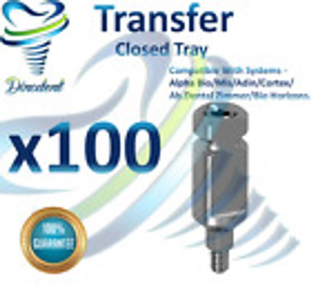 X100 Transfer For Closed Tray Dental Implant Abutment Hex Dentist Lab Free Ship