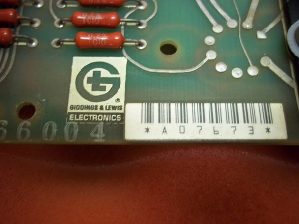 Giddings & Lewis  Servo Interface Board  501-03882-00 / 502-03092-00