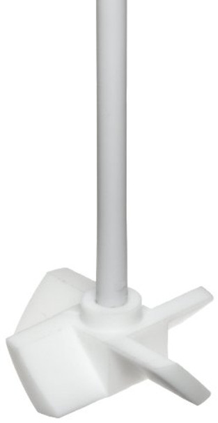 """Dynalon 312504-0002 PTFE Lab Stirrer with Screw Propeller Blade and 20"""" Shaft, 260 Degree C"""