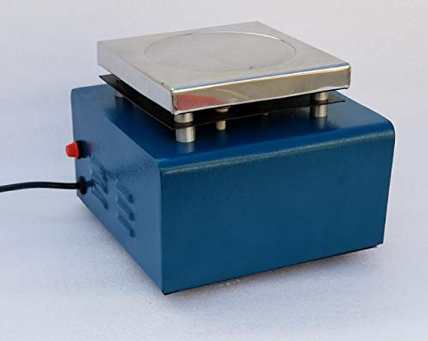Yantra 2000mL Magnetic Stirrer 110 V AC Stainless Steel Hot Plate with 50 mm STIR BAR Extra Fuse and Instruction Manual