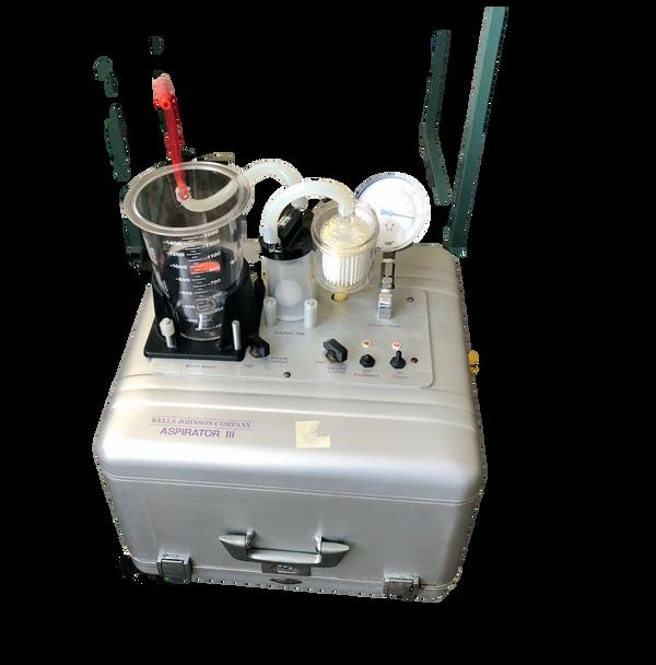 Wells Johnson Medical Vacuum Suction Aspirator III Portable Pump System