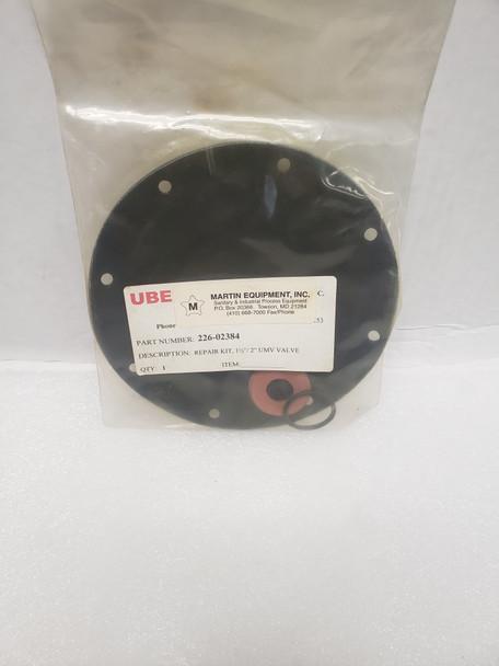 "UBE 226-02384 Repair Kit 3"" UMV/PM Valve"