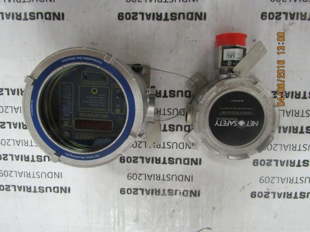 NET SAFETY MILLENNIUM MLP-A-SC1100-SS GAS DETECTOR N