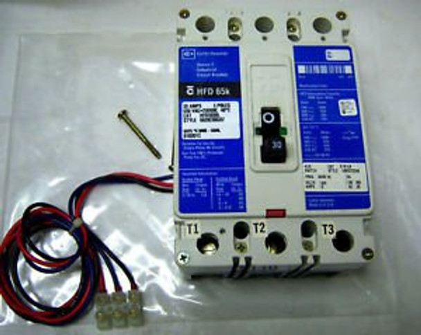 (4379) Cutler Hammer Circuit Breaker HFD3030L 30A 3P 600V