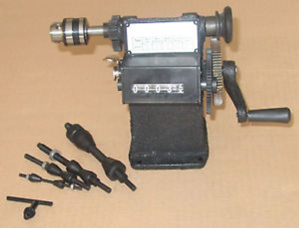 Manual Coil Winder Power Transformer Winding Machine Digital Counter CHUCK