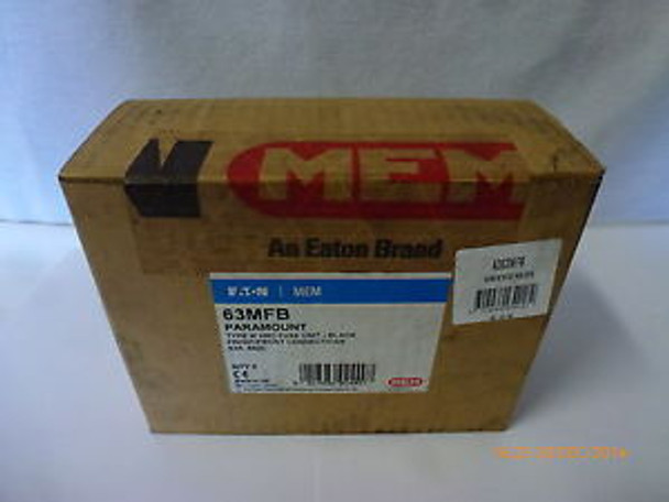 Eaton MEM 63MFB Paramount Type-M HRC Fuse Unit Black 63A 660V - Box of 5 New