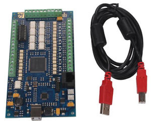 CNC 4 Axis USB Motion Controller Card E-CUT Mach3 Interface Breakout Board  1Mhz