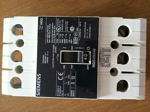 Siemens NGG3B040 circuit breaker 40 amps 240-480 3 phase