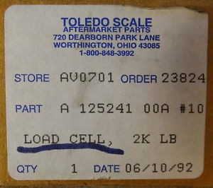 Toledo Scale Load Cell A117888500A Model 725
