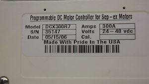 DCX300R7 PROGRAMMABLE Shunt DC MOTOR CONTROLLER 28-48 VOLTS DC GOLF CART