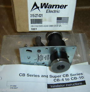 Warner 315-27-021 Clutch/Brake Cb5-Ccw-12Vdc 31527021