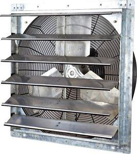 Wall-Mounted Variable Speed Industrial Shutter Exhaust Fan 24 Garage Shop  Barn
