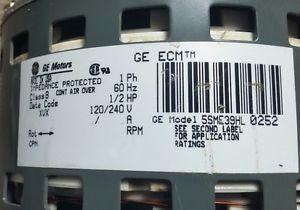GE ECM Motors 5SME39HL 0252 Electric Motor CPN 5462 Trane