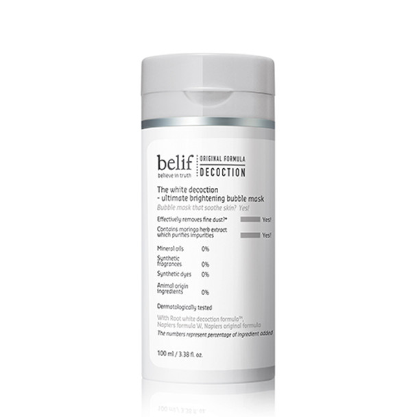 Belif The White Decoction -Ultimate Brightening Bubble Mask