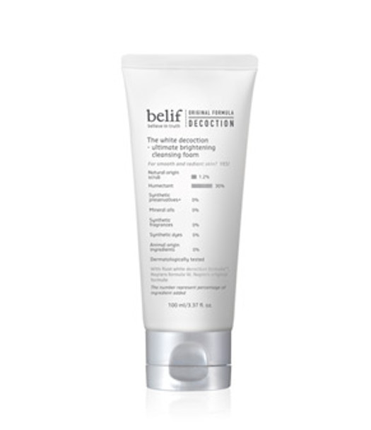 Belif The White Decoction - Ultimate Brightening Cleansing Foam