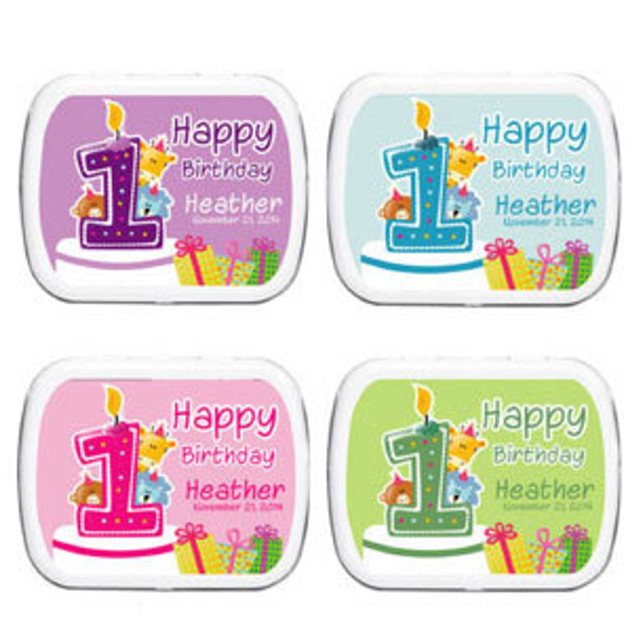 45 Personalized Frosted Glass Votive Candles Birthday Baby Party Wedding Favors