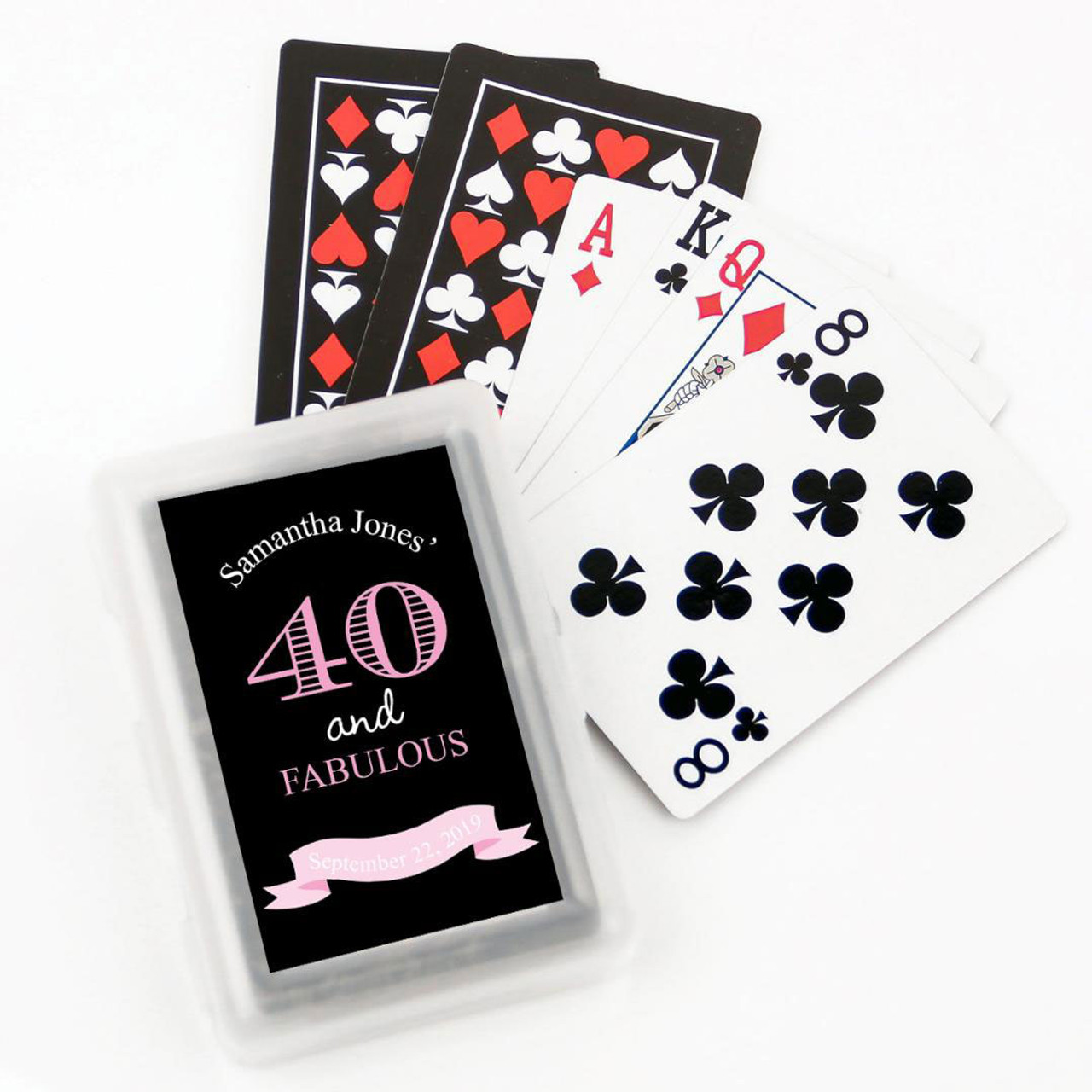 Fabulous Birthday Personalized Playing Cards
