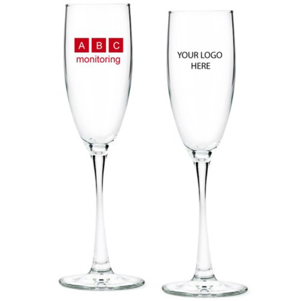 Corporate Logo Personalized Champagne Flute