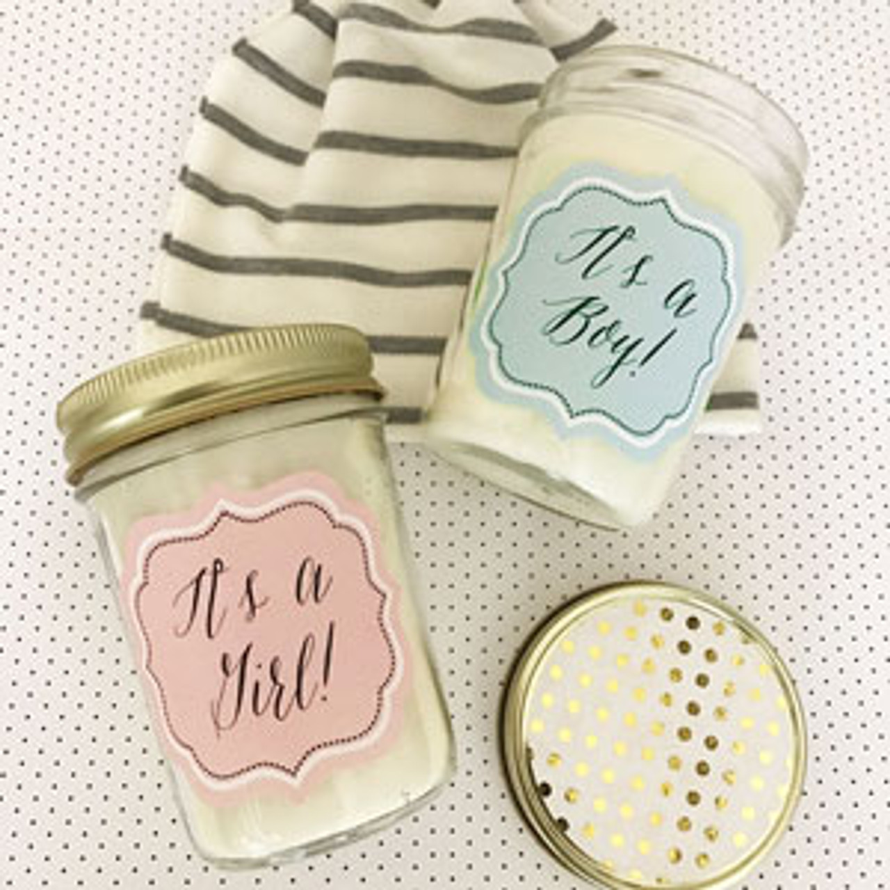Baby Mason Jar Candle Favors Flowers