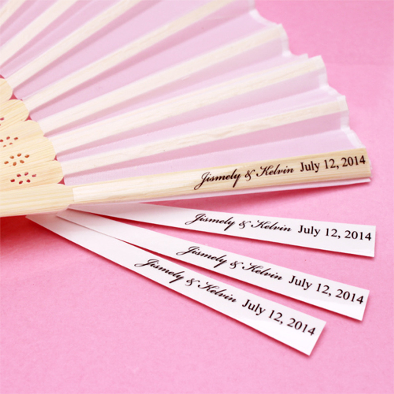 Personalized Clear Hand Fan Labels 24 Pieces