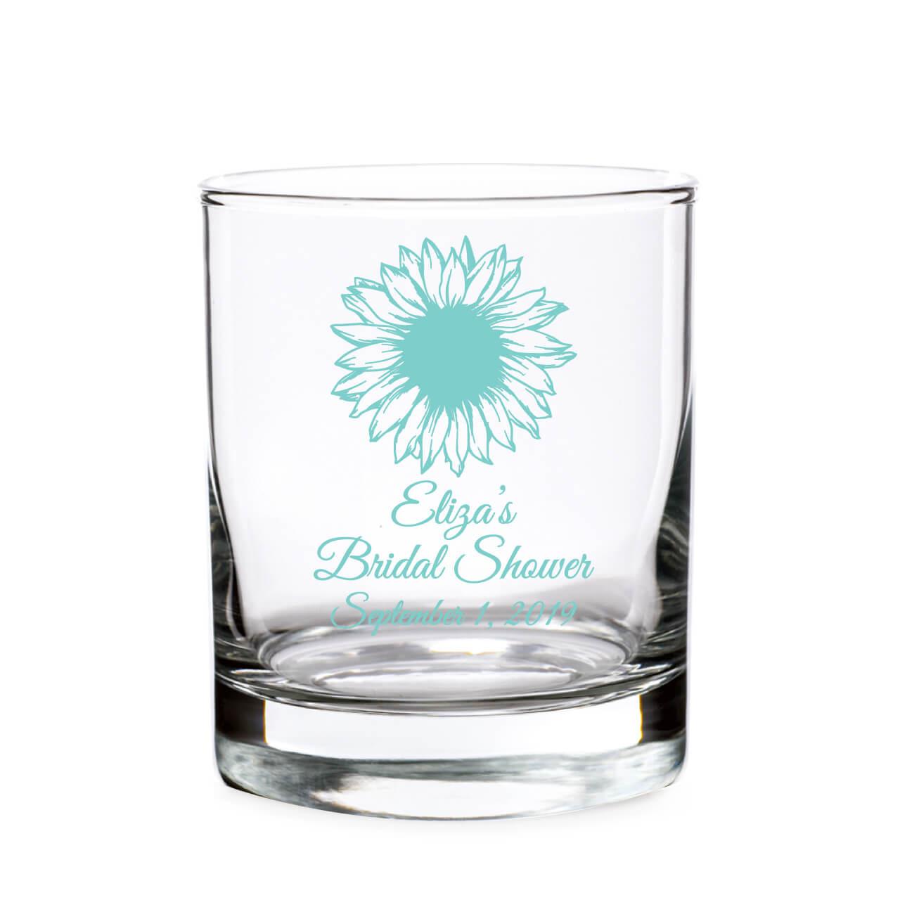 Personalized Sunflower Shot Glass Votive Holder
