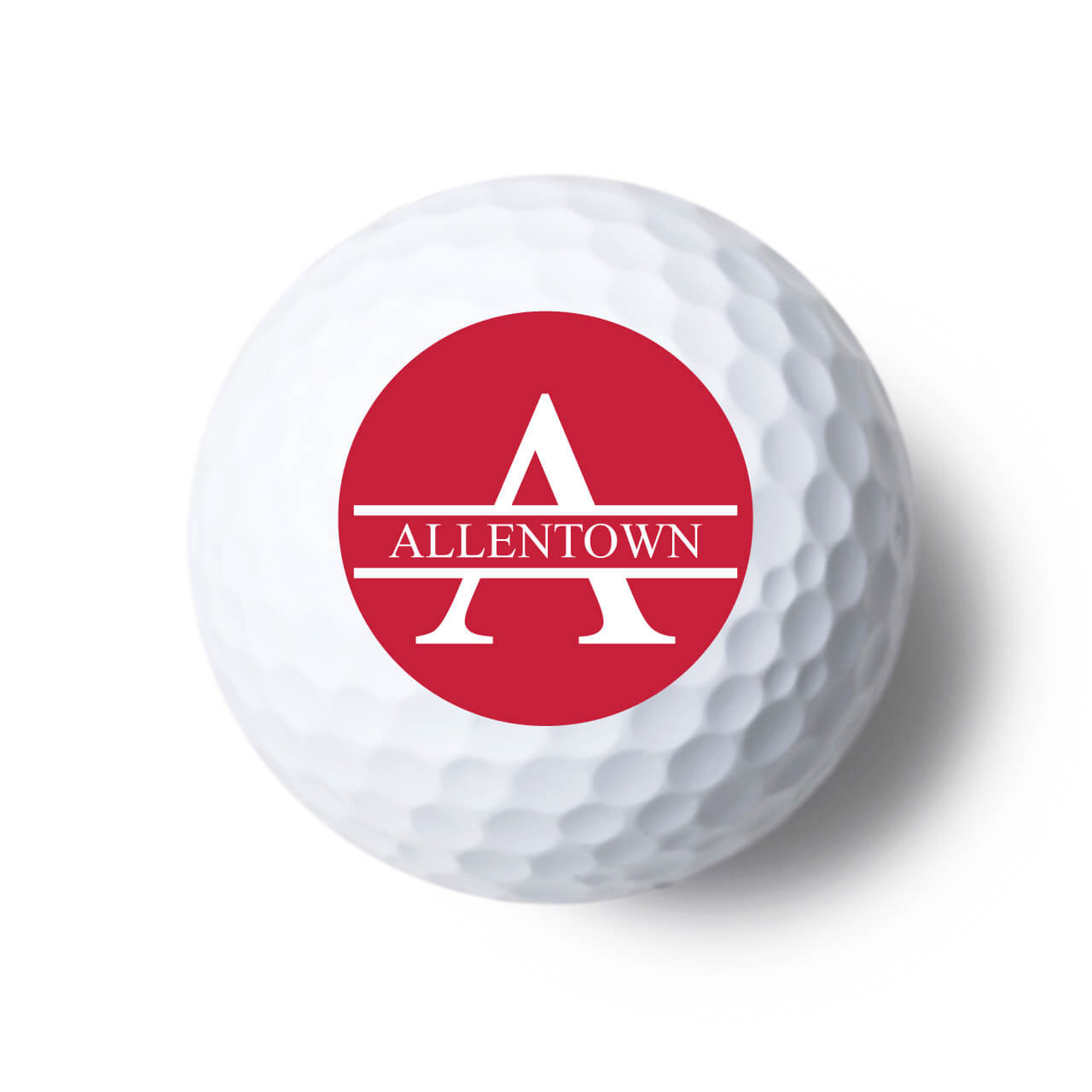 Monogram Style Personalized Golf Balls Favors Flowers