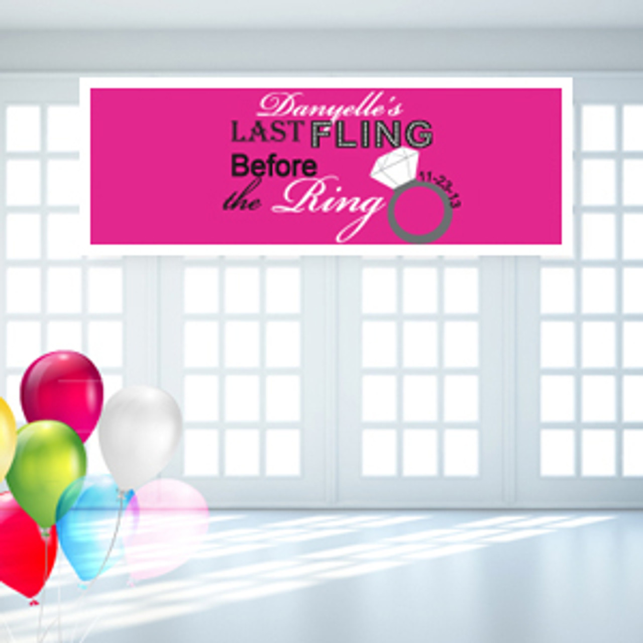 Bachelorette Party Personalized Banner