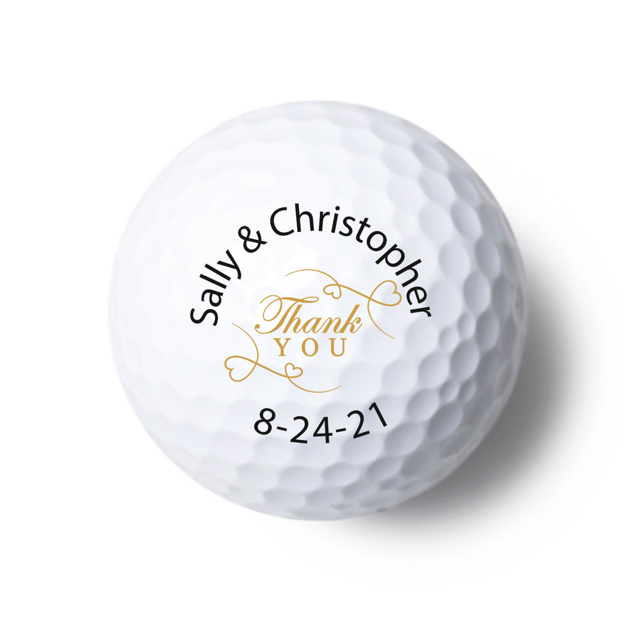 Thank You Personalized Golf Balls Favors Flowers