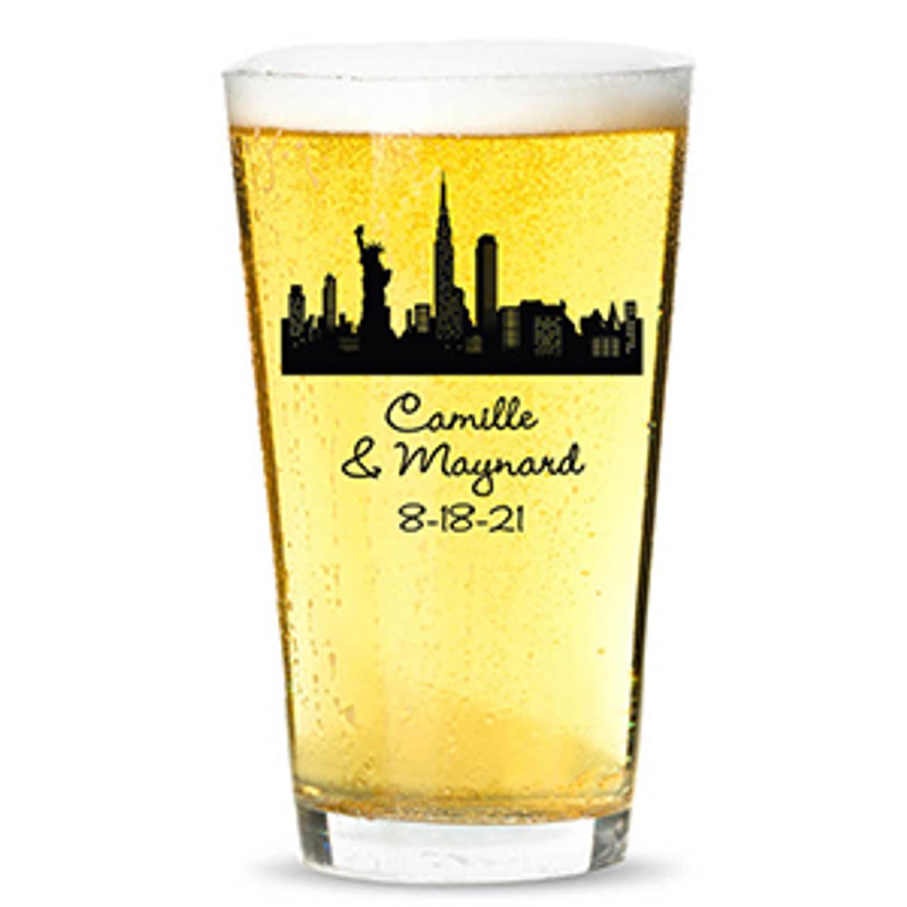 New York Subway Map Drinking Glass 16oz.New York Theme Wedding Favors Favors Flowers